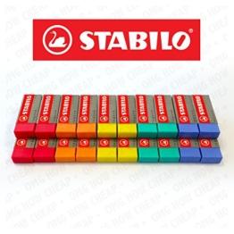 STABILO Legend Kunststoff-Radierer, verschiedene Farben–Box mit 20 Stück -