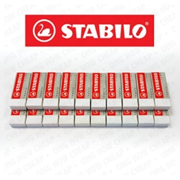 Stabilo Legend Kunststoff-Radiergummi, Weiß, 20 Stück -
