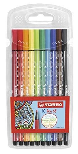 STABILO Pen 68 10er Etui - Premium-Filzstift -