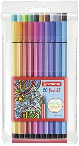 STABILO Pen 68 20er Etui - Premium-Fasermaler -