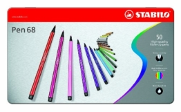 STABILO Pen 68 50er Metalletui - Filzstift -