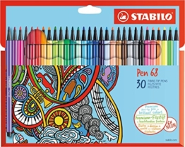 STABILO Pen 68 - Premium-Filzstifte - 30er Set -