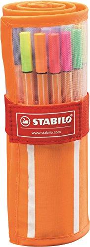 STABILO point 88 30er Rollerset, 25 + 5 Neonfarben - Fineliner -