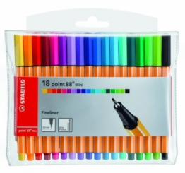 STABILO point 88 Mini 18er Etui - Fineliner -