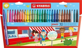 STABILO power 30er Kartonetui - Filzstift -