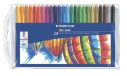 Staedtler 325 WP24 Filzstifte Noris Club Set (mit 24 brillanten Farben, hohe Qualität, CE - kindgerecht DIN EN-71, leicht auswaschbar, Linienbreite ca. 1 mm, rund) -