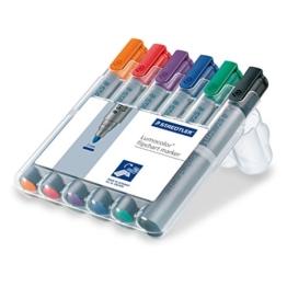 Staedtler 356 WP6 Flipchart-Marker Lumocolor (Rundspitze ca. 2 mm Linienbreite, Set mit 6 Farben, ideal für Flipchart-Blöcke, farbintensiv, geruchsarm, hohe Qualität Made in Germany) -