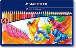 Staedtler Buntstifte Noris Club, erhöhte Bruchfestigkeit, sechskant, Set mit 36 brillanten Farben, ABS-System, kindgerecht nach DIN EN71, umweltfreundliches PEFC-Holz, Made in Germany, 145 SPM36 -