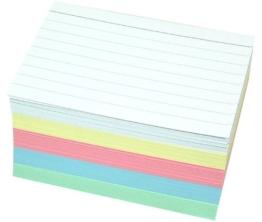 Staufen 200 Karteikarten DIN A8 in 5 Farben zweiseitig liniert -