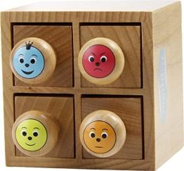 """Stempelset """"Smileys"""" in einer Holzbox -"""