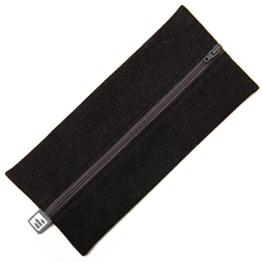 stiftpalast - Das Mäppchen aus Deutschland, 21 x 9,5 x 0,5 cm, Baumwolle (Schwarz / Grau) -