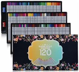 SUDEE STILE Buntstiefte 120 Einzigartige Farben (keines Duplikat) Bleibstifte Farbestifte Set mit Kasten -