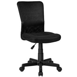 TecTake Bürostuhl Drehstuhl Schreibtischstuhl Schwarz -