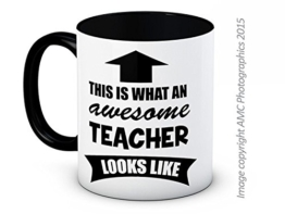 This is What an Awesome Teacher Looks Like - Funny Hochwertigen Kaffee Tee -
