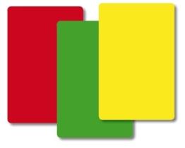 TimeTEX Ampel-Karten - 84 Karten - jeweils 28 Kärtchen Rot - Gelb - Grün - Format: 59 x 91 mm - 10832 -
