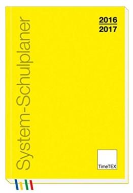 TimeTEX Schulplaner A5 2016/2017 gelb -