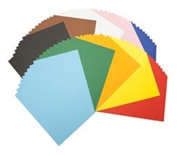 Tonpapierblock A4 Farbig Sortiert 100 Blatt -