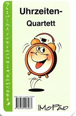 Uhrzeiten-Quartett: 1. und 2. Klasse -