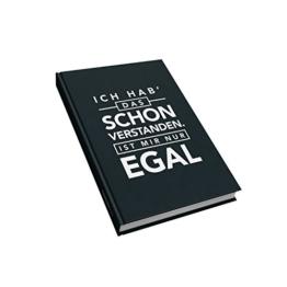 VISUAL STATEMENTS® Notizbuch mit Sprüchen / verschiedene Varianten / Thematisch passende Sprüche in jedem Buch / Gepunktete Innenseiten / Bullet Journal / 14,8 x 21 cm (A5) / THEMA: HUMOR -