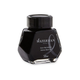 Waterman S0110710 Füllfederhaltertinte (Intense Black) im 50 ml Tintenfass -