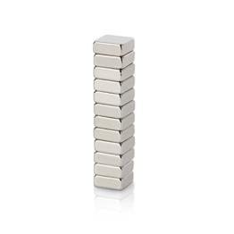 WINTEX 12 Neodym Magnete (10 x 10 x 4 mm) mit sehr starker Haftung für Glas-Magnetboards, Magnettafeln, Kühlschränke | 2 Jahre Zufriedenheitsgarantie | Kühlschrankmagnet -