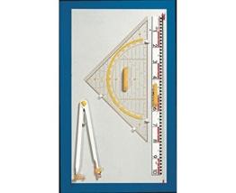 Wissner Geräteplatte III ohne Geräte - Zubehör Tafelzeichengeräte Zeichengeräte Tafel Schule Lehrer lernen Mathematik-Unterricht Geometrie lehren Schultafel Tafelmaterial -