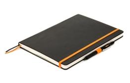 WORKNOTES - Das DIN A4 Notizbuch für Kreative und Macher,192 perforierte Seiten,100g /qm, kariert, Hard Cover, schwarz -