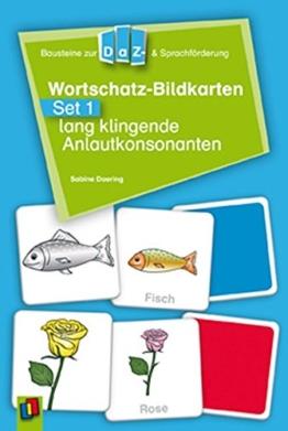 Wortschatz-Bildkarten - Set 1:  lang klingende Anlautkonsonanten (Bausteine zur DaZ- und Sprachförderung) -