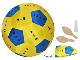 XL - Lernspielball - Zahlen Rechnen bis 20 - Lernball zum Lernen Rechnen Mathematik Plus Minus Addition Subtraktion einfach - Lernspielball - Spielend für Kinder Erwachsene -