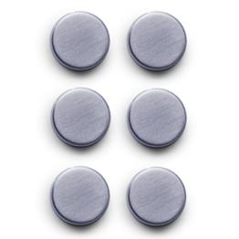 Zeller 11203 Magnet-Set 6-teilig, Ø 2.7 cm, edelstahl -