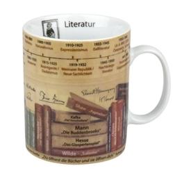 """Könitz K1153301625 Kaffee-/Wissensbecher """"Literatur"""" im Geschenkkarton, Porzellan, 12 x 9 x 11 cm, mehrfarbig -"""
