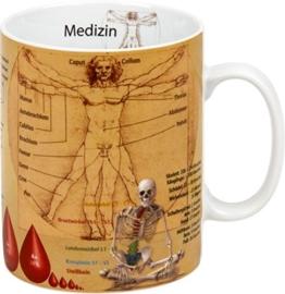"""Könitz K1153301709 Kaffeebecher Wissensbecher """"Medizin"""" -"""
