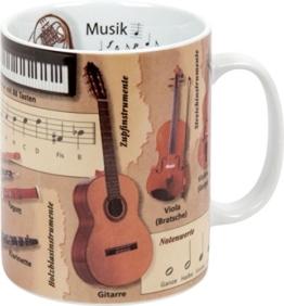 """Könitz K1153301830 Kaffeebecher Wissensbecher """"Musik"""" -"""