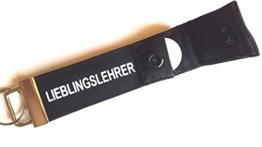 Lieblingslehrer - Schlüsselanhänger mit Einkaufschip, Geschenk für Pädagogen, Lehrer, Schlüsselband Schule mit Chip -